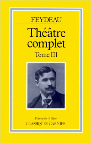 Théâtre complet tome III