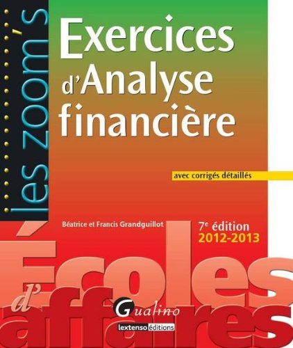 Exercices d'analyse financière