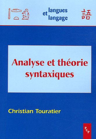 Analyse et théorie syntaxiques